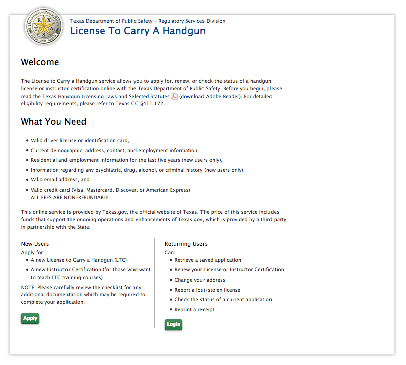 texas ltc renewal website | the firearms training academy, tyler texas